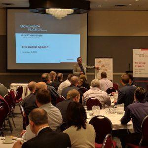 Brian McGill presenting